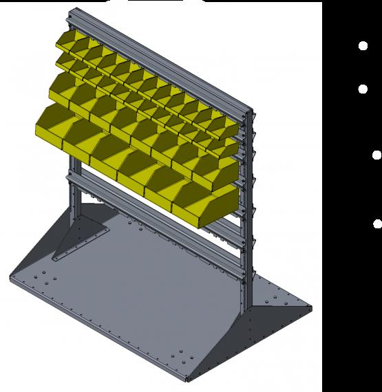 Kanbanový vozík na drobný materiál